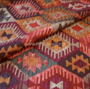 ETNO BOHO. Welurowy kilim Aztek 4 EASY TO CLEAN multikolor